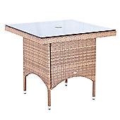 Cozy Bay Rattan Square Bistro Table