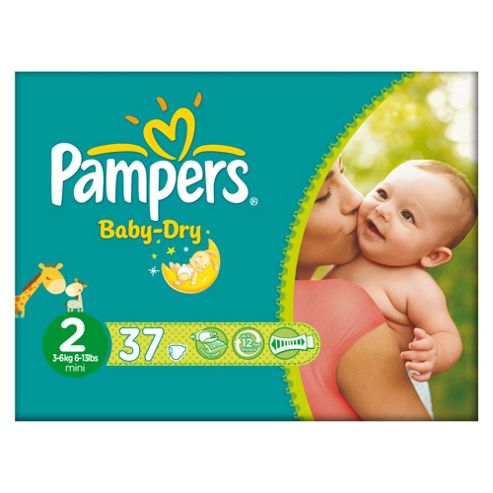Pampers Baby Dry Size 2 Carry Pack - 37 nappies