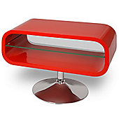 Opod Lipstick Red and Clear Glass Stand for TVs up to 32 inch