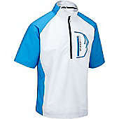 Stuburt Mens Sport Half Zip Short Sleeve Windshirt - Black