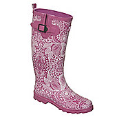 Trespass Ladies Candis Patterned Wellington Boots - Pink