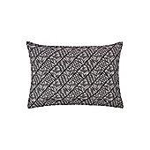 Linea Mono Mark Chevron Diamond Cushion 35X50cm - Grey