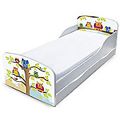 PriceRightHome Owls Toddler Bed with Underbed Storage
