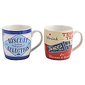 Tesco Vintage Tea Photgraphic Mugs 4 pack