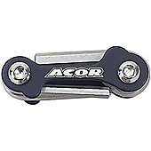 Acor Mini Allen Key / Screwdriver Set: Black.