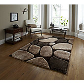 Think Rugs Noble House Beige/Brown Tufted Rug - 150 cm x 230 cm (4 ft 11 in x 7 ft 6 in)