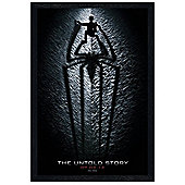 The Amazing Spider-Man Black Wooden Framed The Untold Story Poster