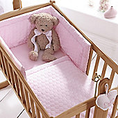 Clair de Lune 2pc Crib Bedding Set (Marshmallow Pink)