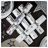 Silver Snowflake Christmas Crackers, 12 pack