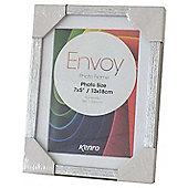 """Kenro Envoy Slimline Silver Photo Frame 12x10"""" or 8x10"""" Photos."""