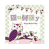Vintage Floral Mum and Baby Owl Mother's Day Card