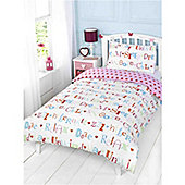 Rapport Kids Chill Out Single Quilt Set Multi Coloured