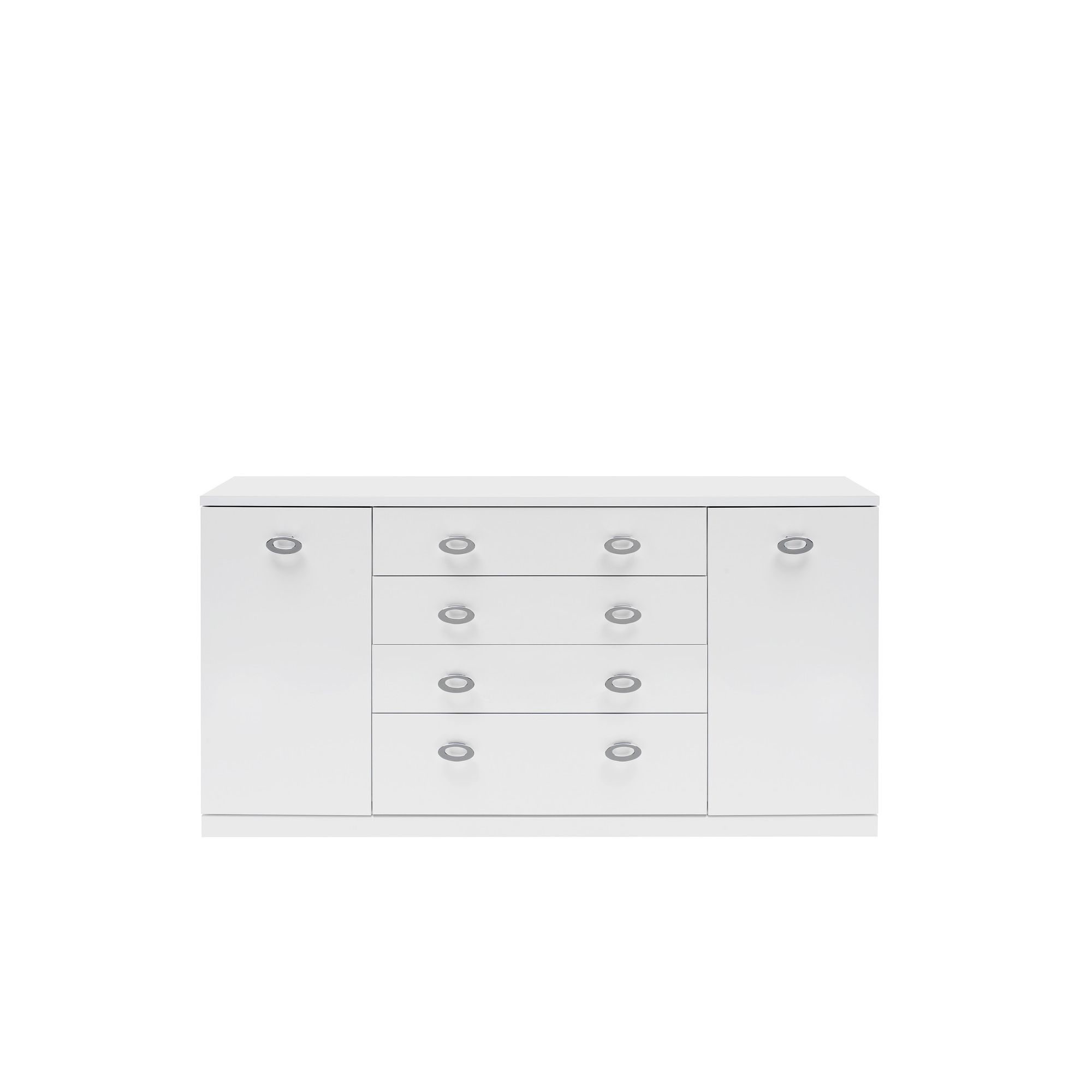 Caxton Manhattan Large 2 Door / 4 Drawer Sideboard in White Gloss at Tesco Direct