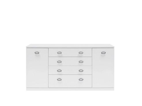 Caxton Manhattan Large 2 Door / 4 Drawer Sideboard in White Gloss