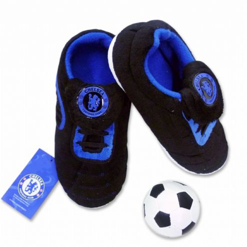 Boys Chelsea FC Slippers with Ball (Size 5-6)