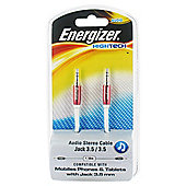 Energizer High Tech - 3.5mm Audio Jack Cable Red