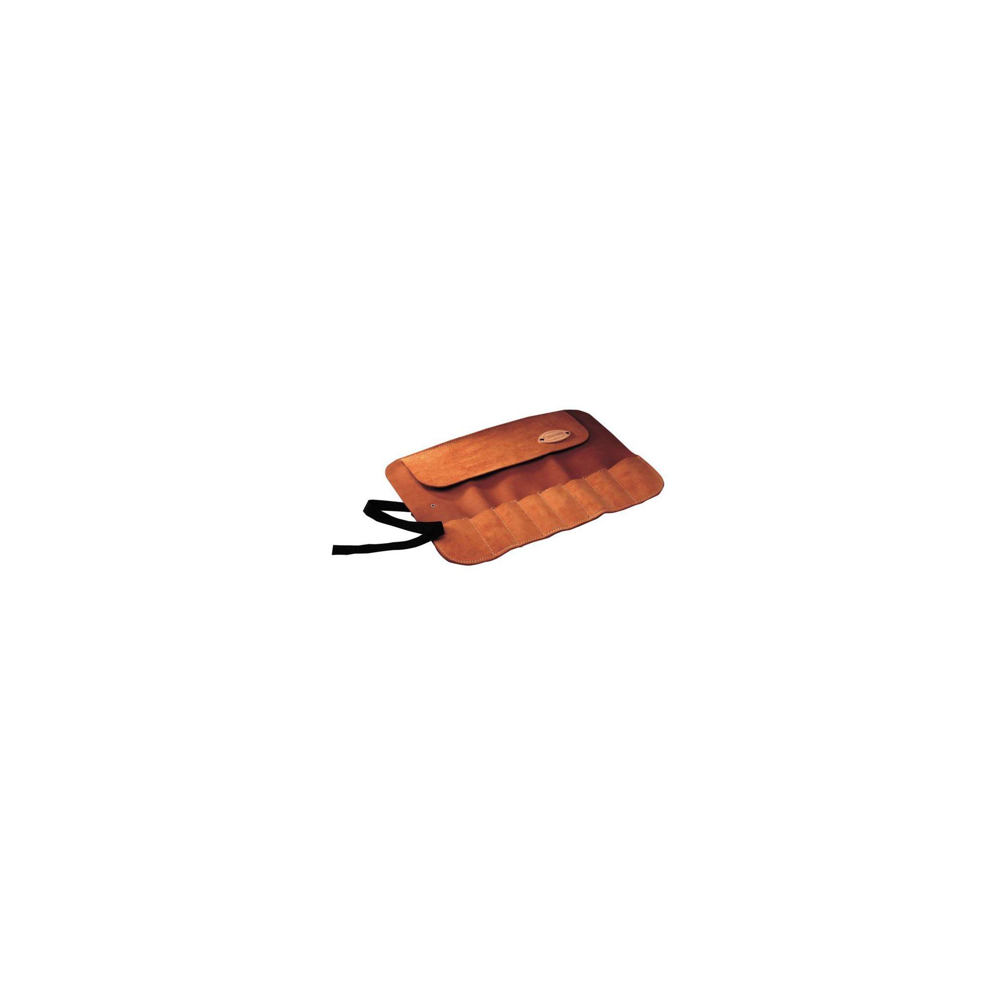 Faithfull Tools 8 Pocket Leather Chisel Roll Storage