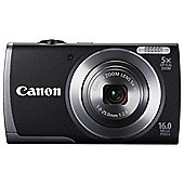 "Canon A3500 Digital Camera, Black, 16MP, 5x Optical Zoom, 2.7"" LCD Screen"