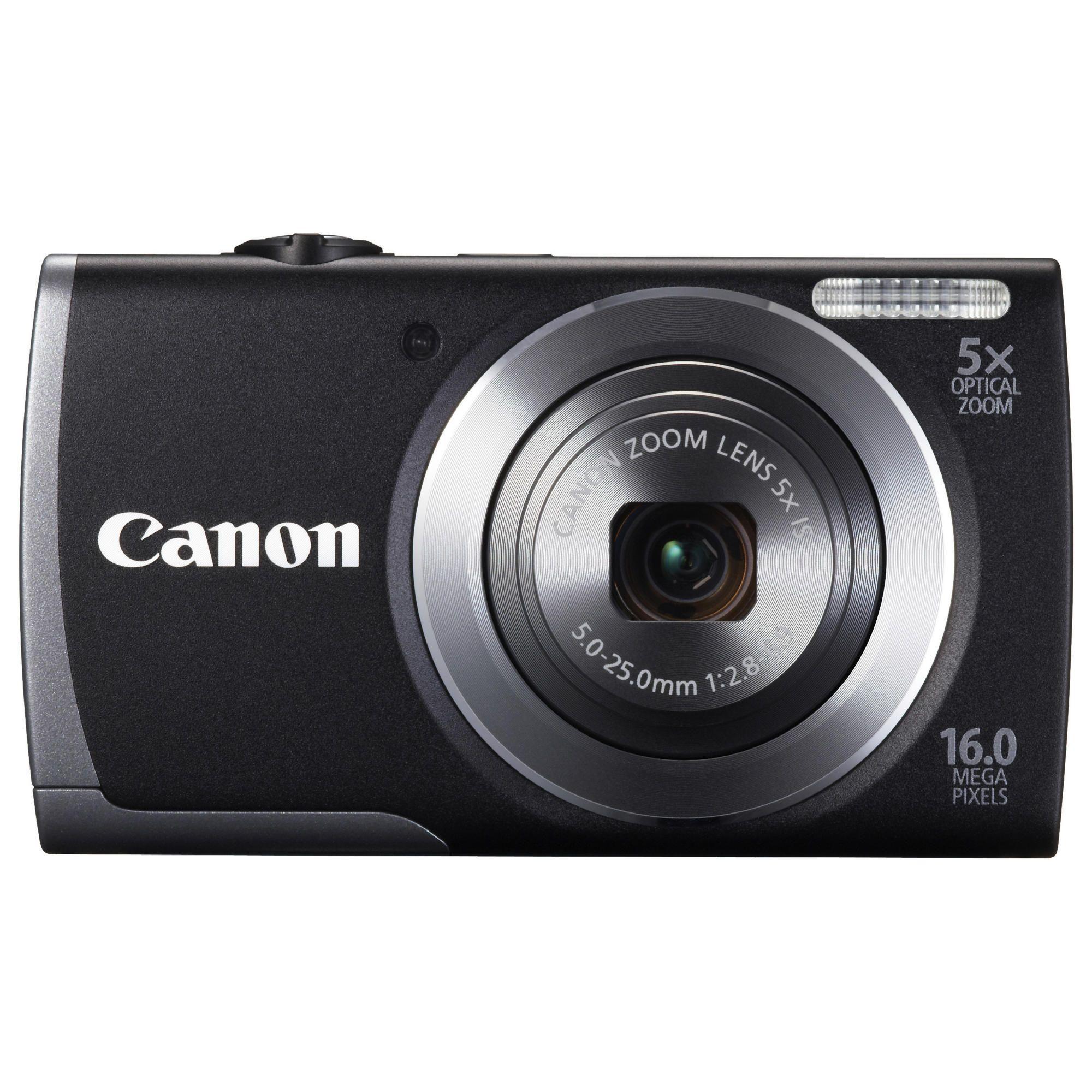 Canon A3500 Digital Camera, Black, 16MP, 5x Optical Zoom, 2.7 inch LCD Screen