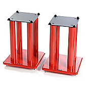 Atacama Speaker Stands in Red - Height 400mm