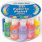 Children's 3D Fabric Paint Value Pack 18 - Matt, Pearlised & Glitter Finishes (Pack of 18)