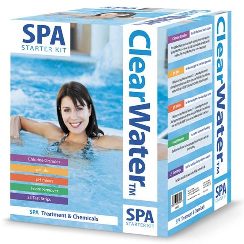 Buy clearwater basic spa chemical starter set from our for Garden pool tesco
