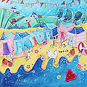 Artistic Britain Beach Huts in a Row by Susie Grindey Wall Art