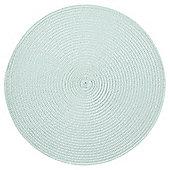 Tesco Round Woven Aqua Placemat, 2 Pack