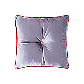 Pied A Terre Button Velvet Cushion, Violet
