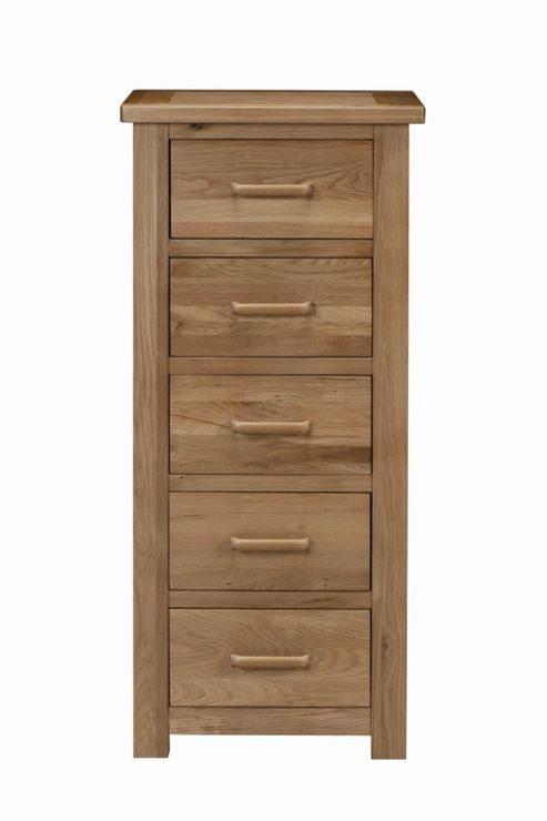Kelburn Furniture Sasso 5 Drawer Wellington Chest