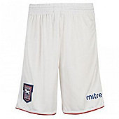 2012-13 Ipswich Mitre Home Football Shorts - White