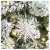 Weiste Glitter White Snowflake Christmas Tree Decoration