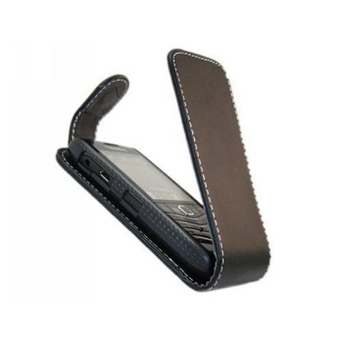 Black FlipMatic Easy Clip On Vertical Pouch Case - BlackBerry 9105 Pearl 2 3G