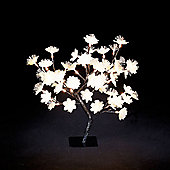 Fibre Optic Gold Flower Display with 48 Warm White Lights