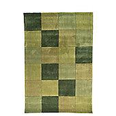 Infinite Inspire Squared Oblong Green Rug - 120X170 cm