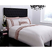 Pied A Terre Ruffles Single Duvet Cover In Champagne