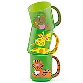 Party Bag Plastic Jungle Animal Mugs (Pack of 4)