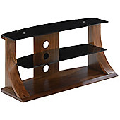 Jual Curve - Curved Walnut and Black TV Stand for up to 37 inch TVs