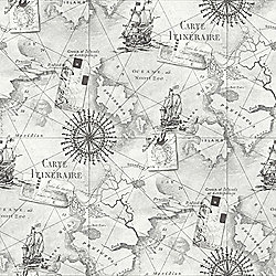 Navigator Vintage Map Grey Wallpaper - Arthouse 622004