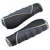 Acor Ergonomic Kraton/Gel Grips. 130mm, Black/Grey
