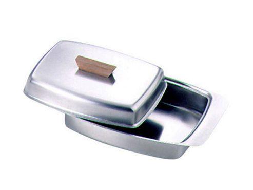 Zodiac 11728 Butter Dish W/Wood Knob