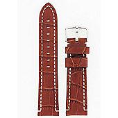 Hirsch Knight Mens Brown Leather Watch Strap 10902870-2-22