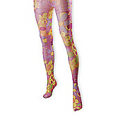 Ladies Flower Tights - Pink