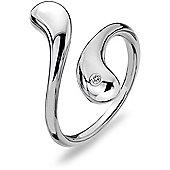 IT Diamonds Rhodium DIVINE Diamond Snake-Style Ring