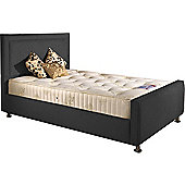 ValuFurniture Calverton Divan Bed and Mattress Set - Charcoal Chenille Fabric - Single - 3ft