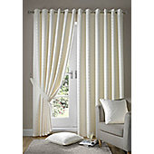 Madison Eyelet Lined Curtains - Cream