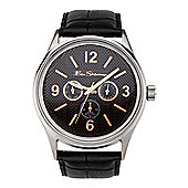 Ben Sherman Gents Black Dial Black Leather Strap Watch R803