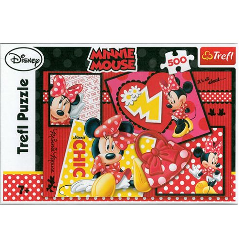 Minnie Mouse 500 Piece Jigsaw Puzzle