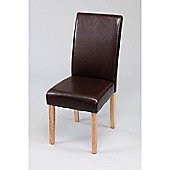 Kensington Red Faux Leather Dining Chair