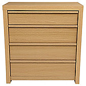 Tribeca 4 Drawer Chest Oak
